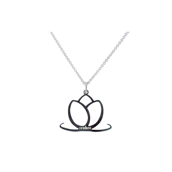 Charmed Sterling Silver Lotus Flower Necklace