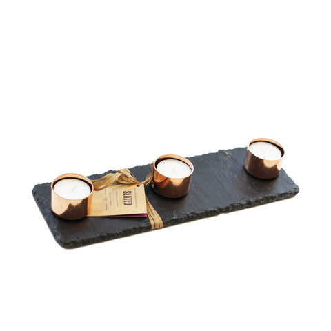 Copper & Slate Candle Trio