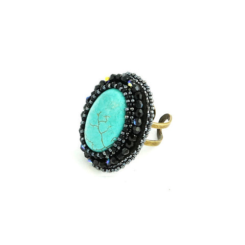 Faith Blue Turquoise Ring