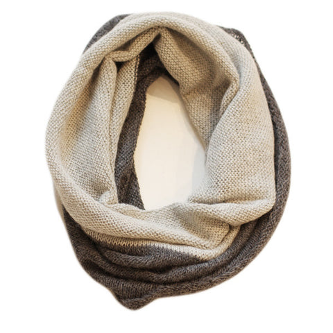 Two Tone Snood - Grey & Charcoal