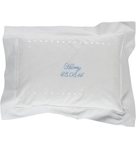Personalised White Dots Baby Pillowcase
