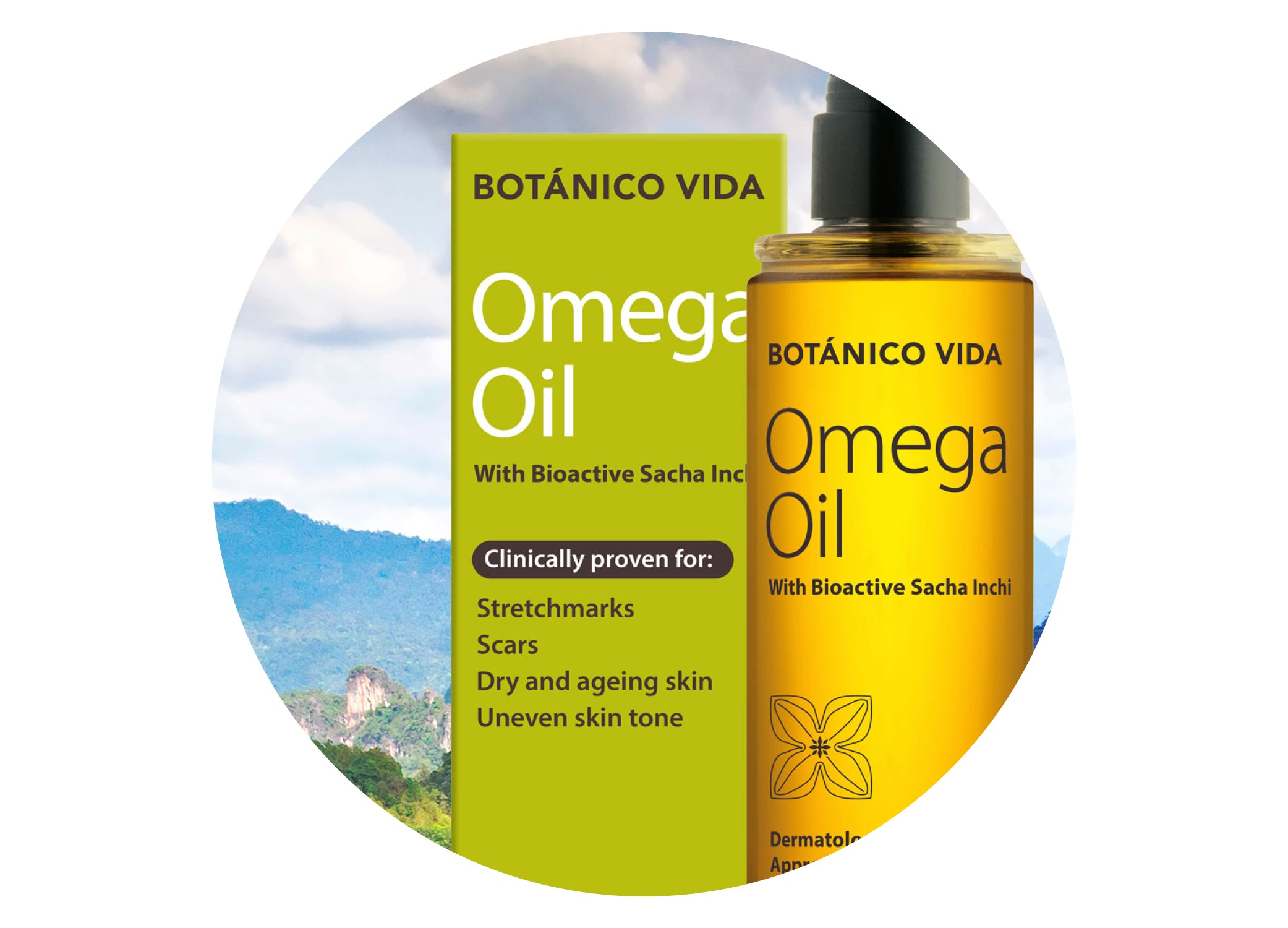 Botanico Vida Omega Oil with Sachi Inchi. Sustainable skincare for the family.