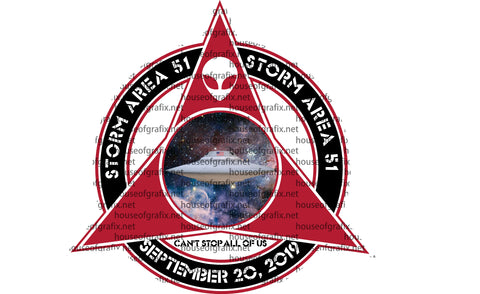 Storm Area 51 Decal  They Can't Stop All of Us NEW