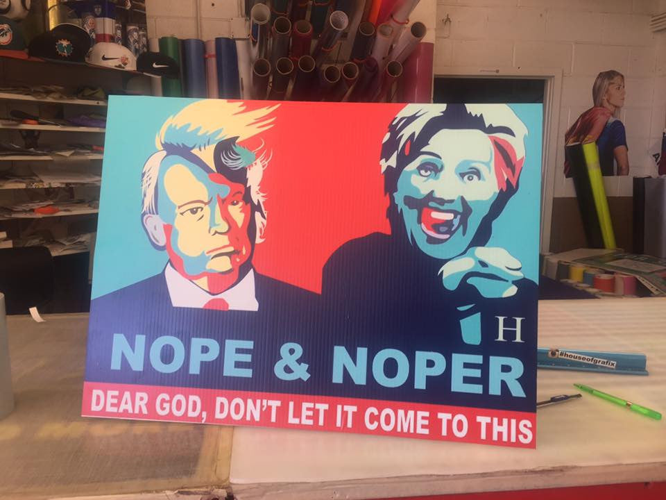 nope and noper hillary and trump house of grafix