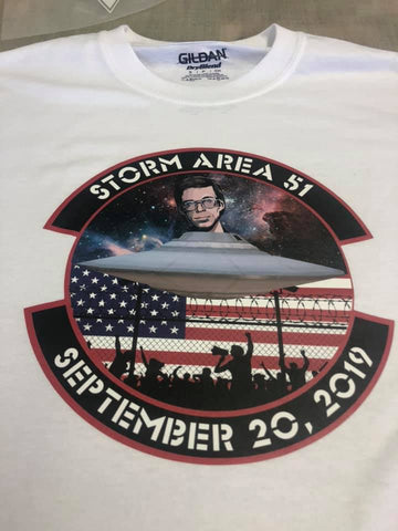 Storm Area 51 Decal  They Can't Stop All of Us Shirt