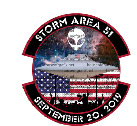 Storm Area 51 Decal  They Can't Stop All of Us