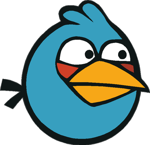 Angry Birds Blue Bird Decal
