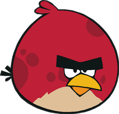 Angry Birds Fat Red Bird Decal