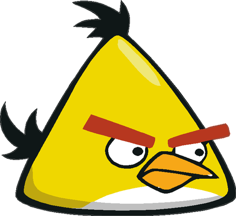 Angry Birds Yellow Bird Decal