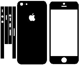 Apple Iphone5 Color Change Skin Wrap Decals