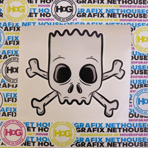 Bart Skull and Crossbones Decal