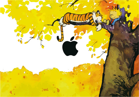 Calvin and Hobbes Macbook skin