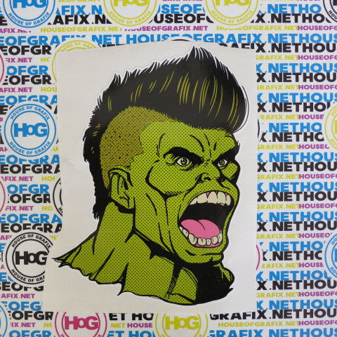 Cartoon Hulk Decal