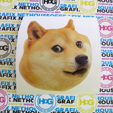 Doge Face Decal