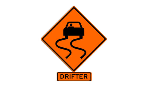 Drifter Sign Decal