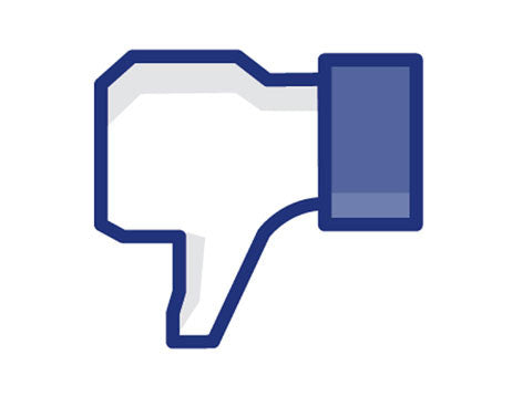 Facebook DISLike This Thump Decal