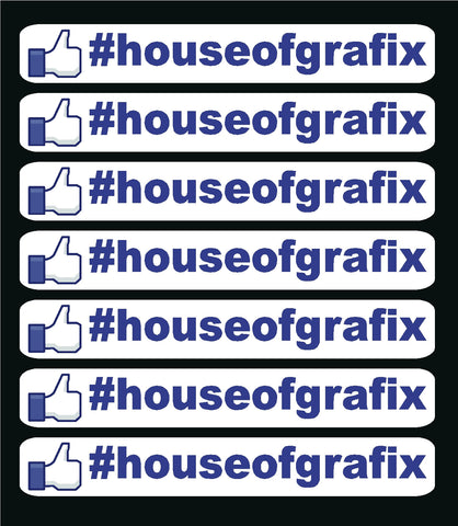 Facebook Hash Tag Decals