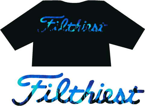 Filthiest Black Shirt with Blue Dj Print