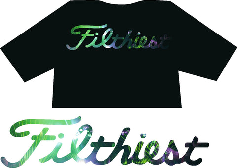 Filthiest Black Shirt with Green Lazer DJ Print