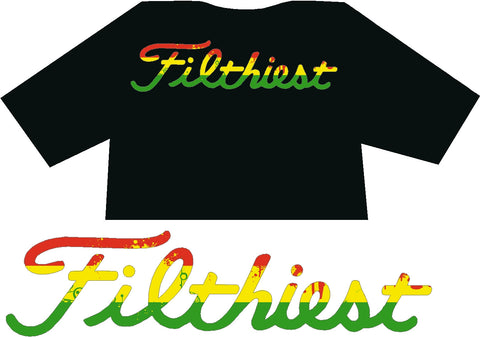 "Filthiest Black Shirt with ""LUIS"" Print"