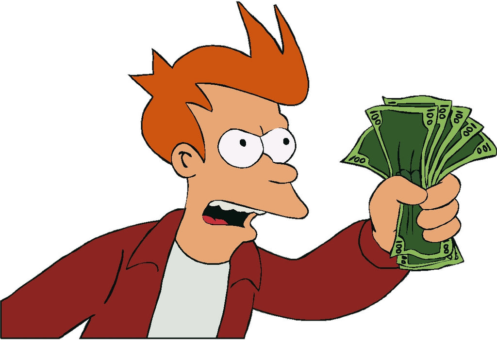 fry shut up and take my money decal � house of grafix