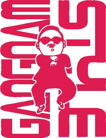 Gangnam Style Die Cut Decal with guy