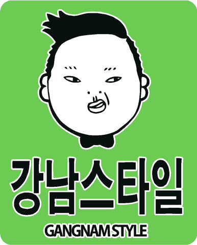 Gangnam Style Face with Lettering Printed