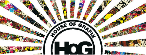 Houseofgrafix Sticker Bomb Logo WHITE