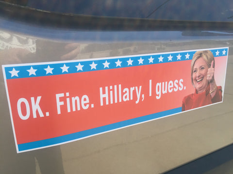 Ok. Fine. Hillary, I guess. Decal