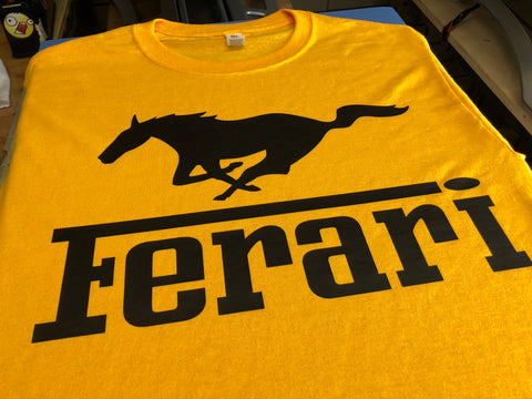 Ferari Shirt Ferrari Yellow