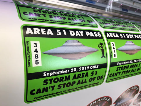 Area 51 Day Pass Decal STORM AREA 51 DECAL THEY CAN'T STOP ALL OF US