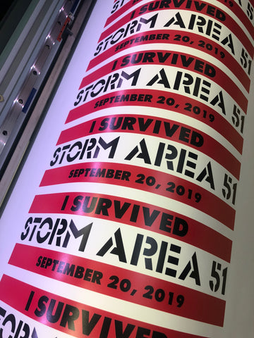 I SURVIVED STORM AREA 51 DECAL THEY CAN'T STOP ALL OF US