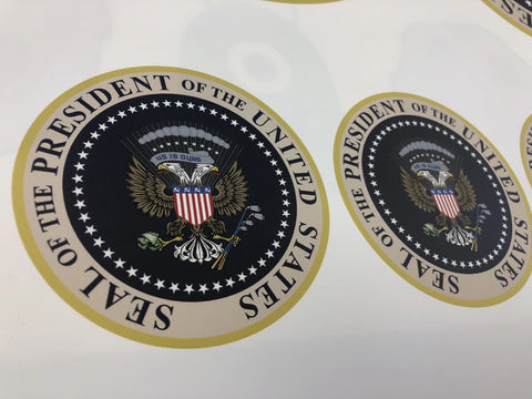 TRUMP PRESIDENTIAL SEAL FAKE Decal