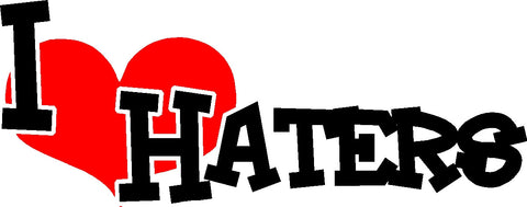 I Haters Decal