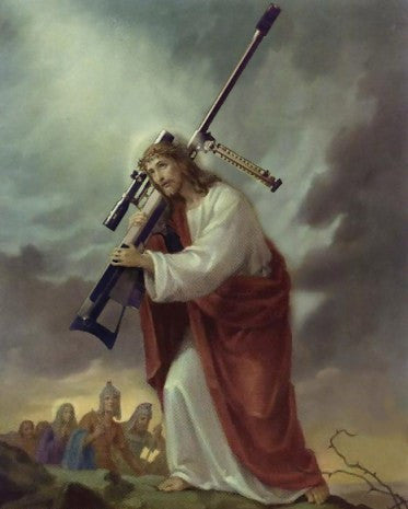 Jesus with .50cal decal