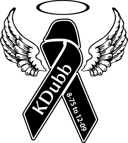 KDubb Wings Ribbon Decal