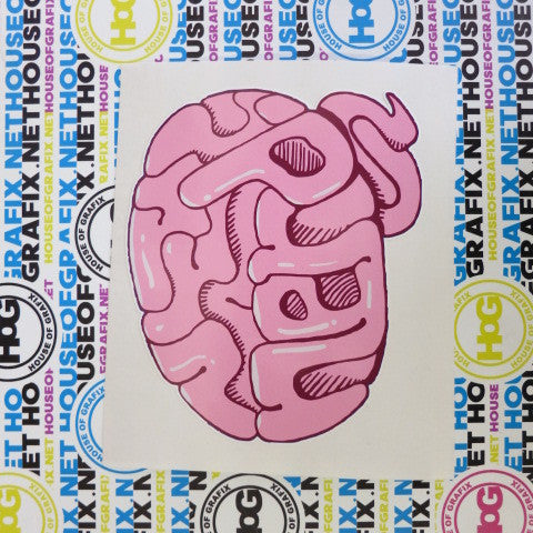 Nerd Brain Decal