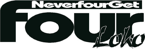 Never Four Get Logo with Solid