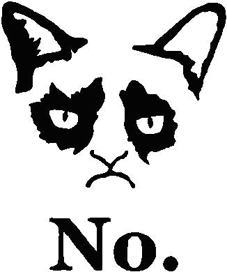 No Cat Meme Decal