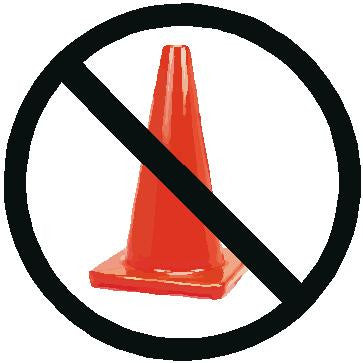 No Cones Decal