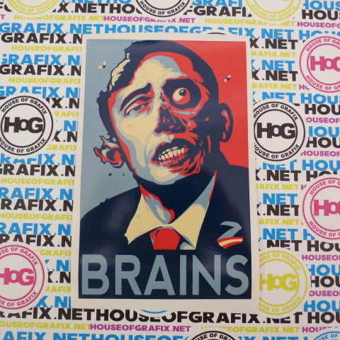 Obama Brains Decal