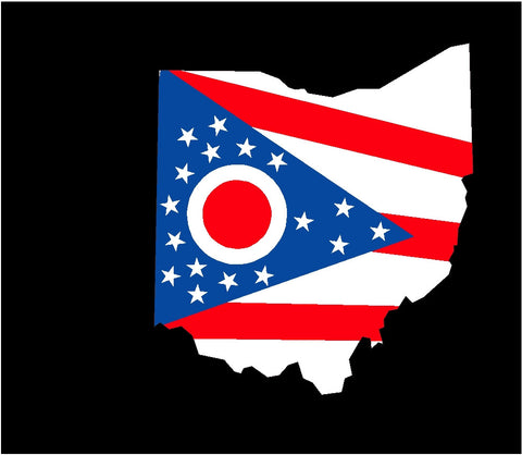 Ohio state flag decal