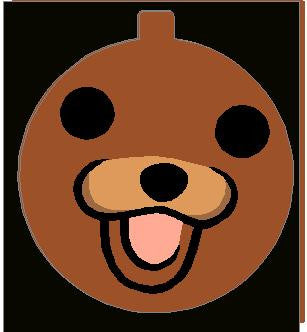 Pedobear Face Ornament