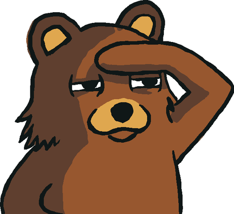 Pedobear Looking Art #2