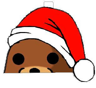 Pedobear watching ornament with hat