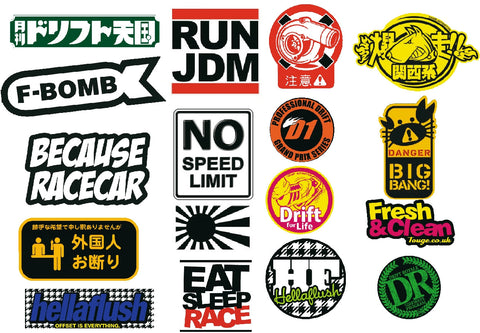 RC Car JDM 2 Decal Pack