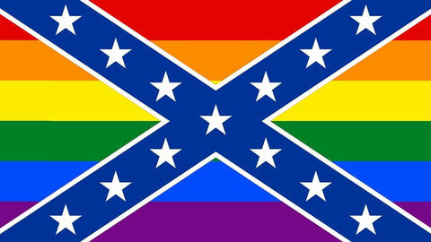 Rainbow confederate flag decal