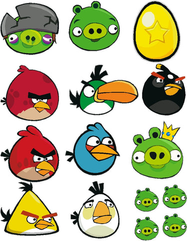 Rc Angry Bird Decal Pack