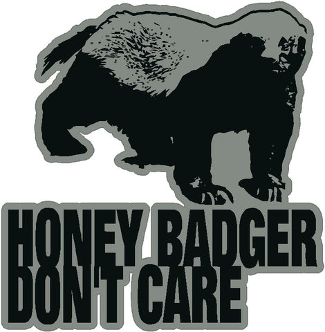 Silver Honey Badger Decal
