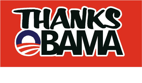 THANKS OBAMA decal
